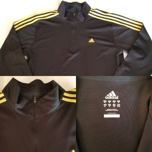 Adidas Black with Yellow lines from shoulders down